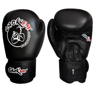 Lederen bokshandschoenen Get'em Series zwart