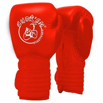 Lederen Handschoenen Cross Line Rood
