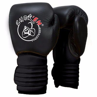 Lederen Handschoenen Cross Line Zwart