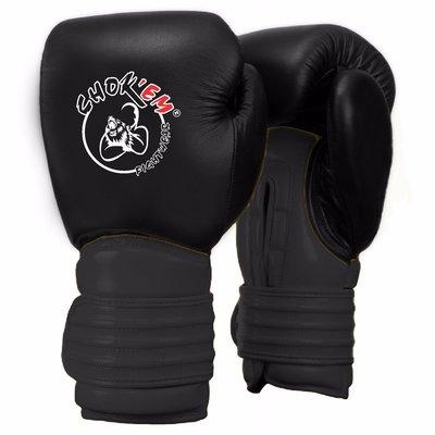 Lederen Handschoenen Cross Line Zwart/Grijs