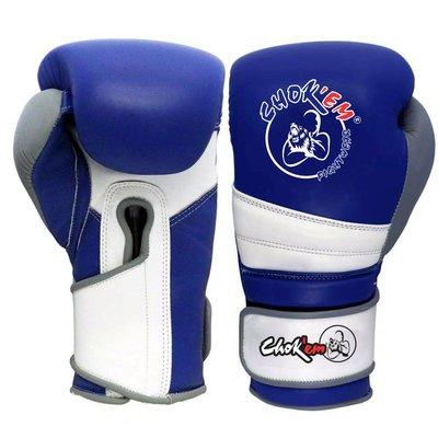 Lederen Handschoenen Punch Line Blauw/Wit/Grijs